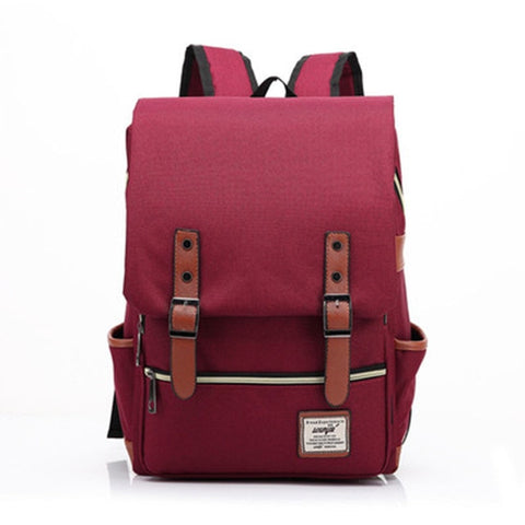 Retro Student Canvas Backpack