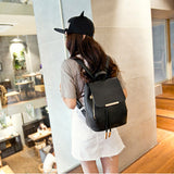 Vintage PU Leather Women Backpack