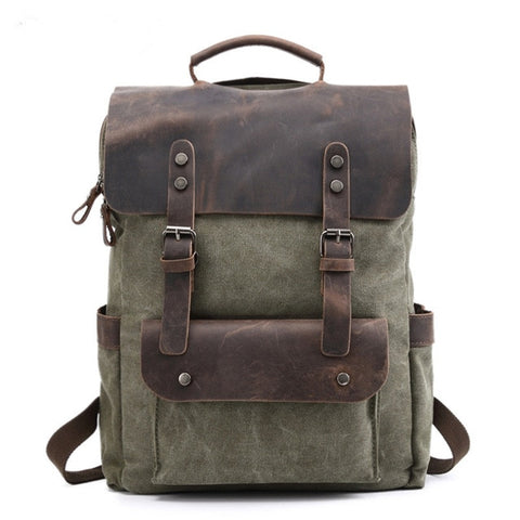 Waterproof Canvas Vintage Backpack