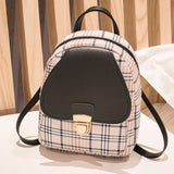 Mini Plaid Backpack