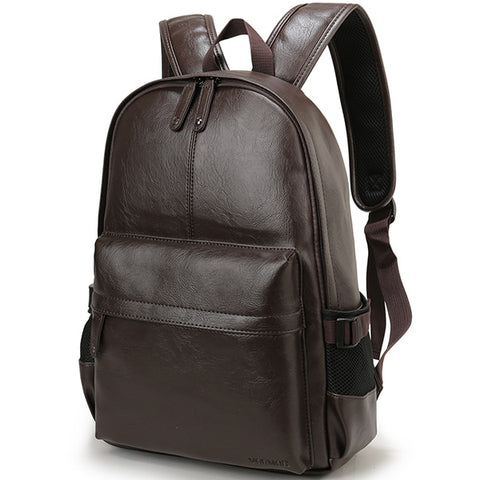 15.6 inch Casual Leather Backpack