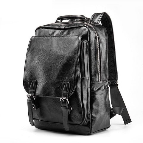 Luxury Leather School Backpack