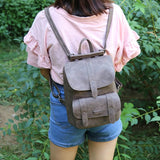 Solid Vintage Girls School Bag
