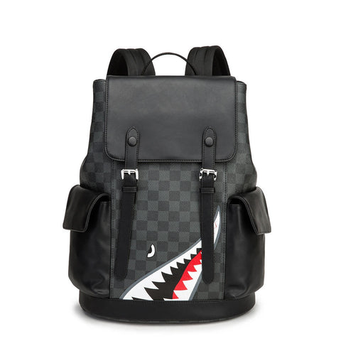 Laptop Backpack with Shark Print