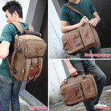 Masculine Canvas Backpack
