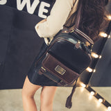 College Style Leather Backpack