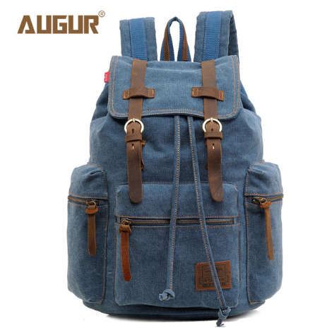 Large Capacity Vintage Canvas Backpack