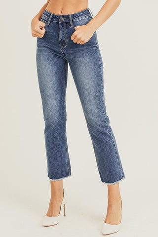 Sandra High Rise Straight Jeans
