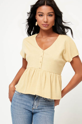 Babydoll Top Yellow