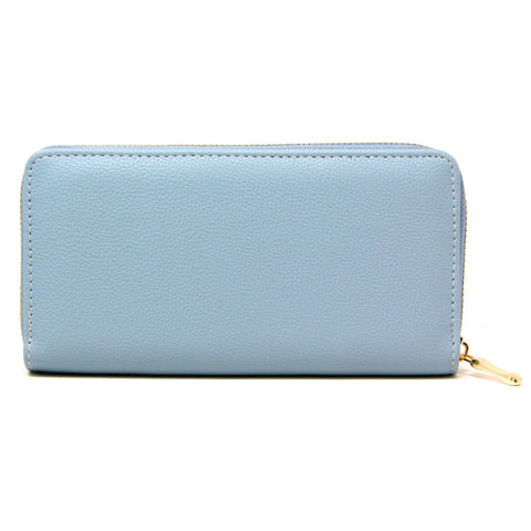Essential Faux Leather Wallet Sky Blue