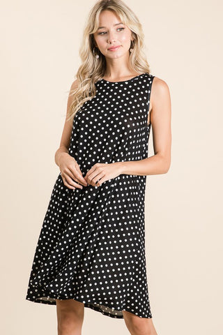 Black and White Polka Dot Dress