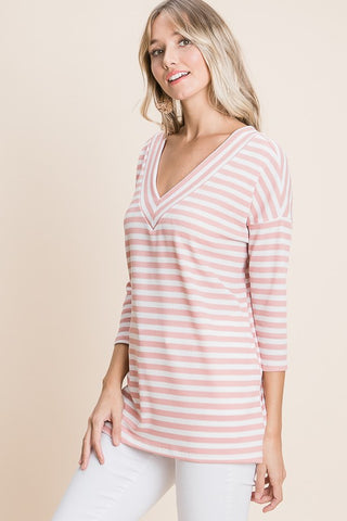 Blush Stripe Top