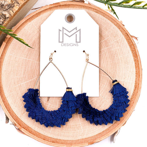 Cha Cha Earrings Navy