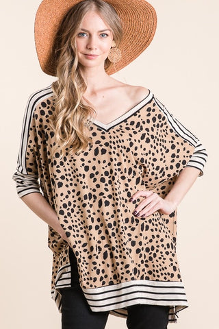 Mix and Match Animal Print Top