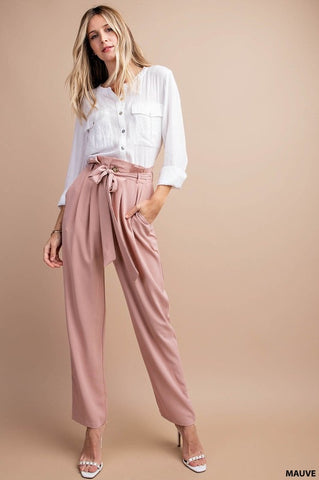 Sugar Bag Waist Pants Mauve