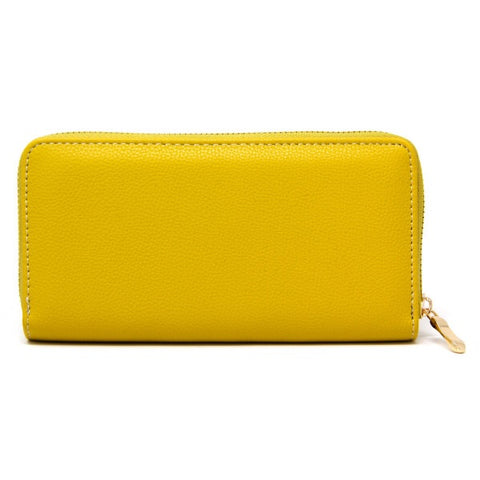 Essential Faux Leather Wallet Mustard
