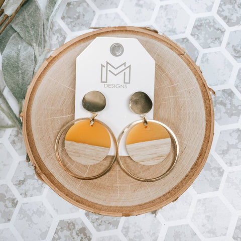 Tina Earrings Mustard