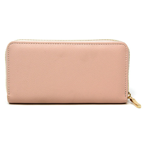 Essential Faux Leather Wallet pink