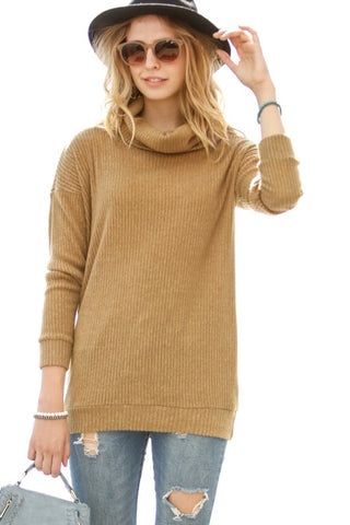 Gold Turtle Neck Top