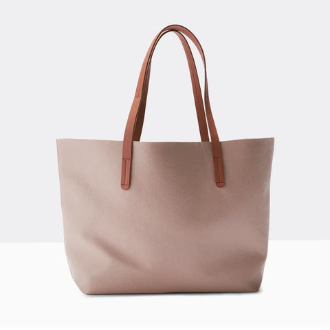 Vegan Leather Tote Blush