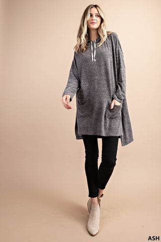 Hoody Tunic Dress Ash