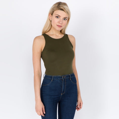 Seamless Body Suit Olive