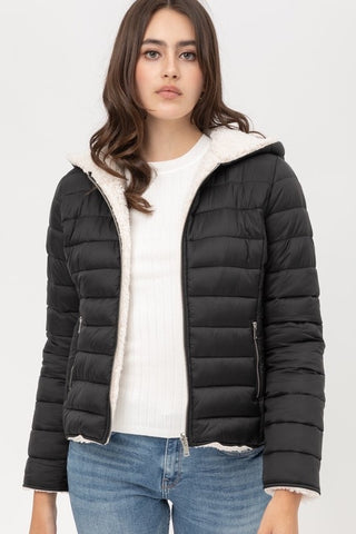 Mila Reversible Puffer Hooded Jacket