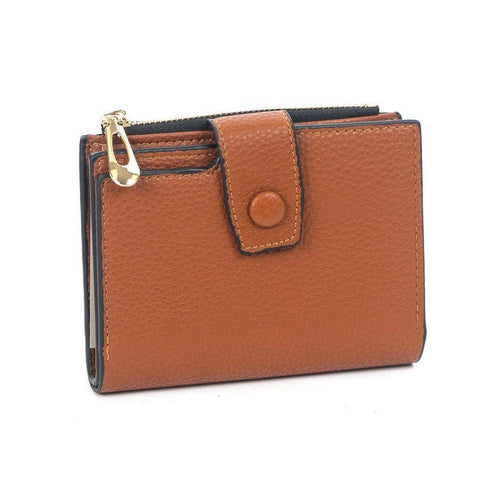 Small Front Snap Wallet Brown