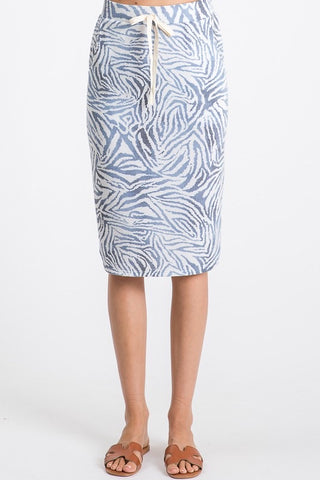 Zebra Sky Blue Skirt