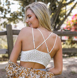 Crochet and Lace Bralette Sage