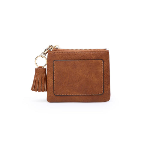 Coin Pouch with ID Holder Brown