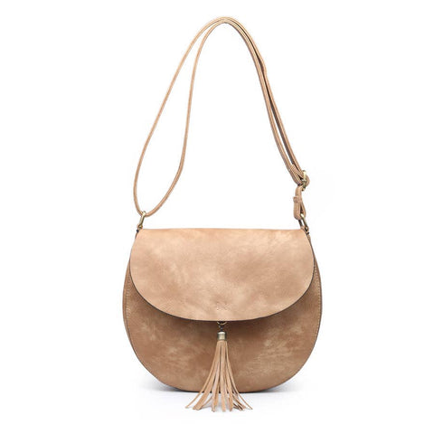 Tassel Saddle Bag Tan
