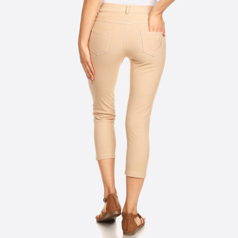 Capri Jeggings Tan