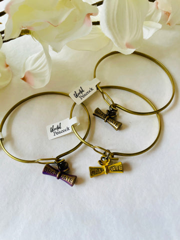 Graduate Charm Bangle Purple