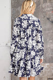 Flower Dress Navy