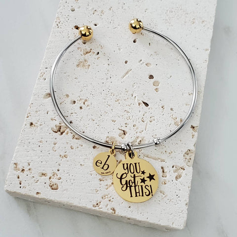 Stackable Bangle You Got This Inspirational Charm Bracelet