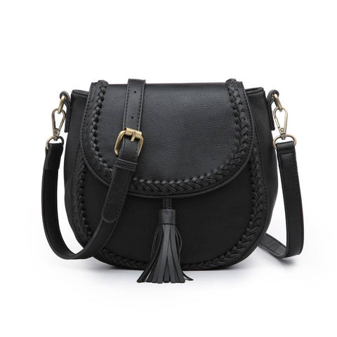 Braided Tassel Bag Black