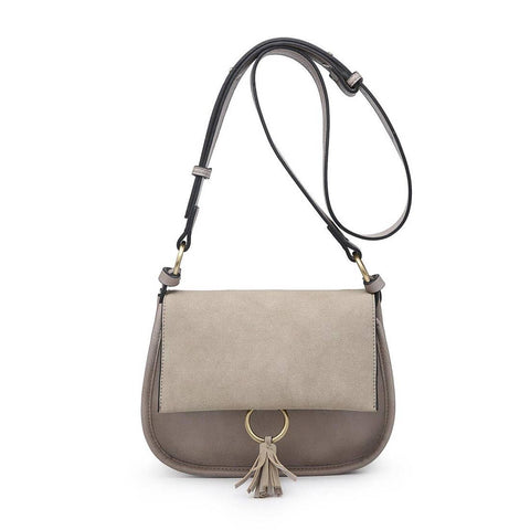 Luna Two Tone Suede Cross Body Bag Khaki