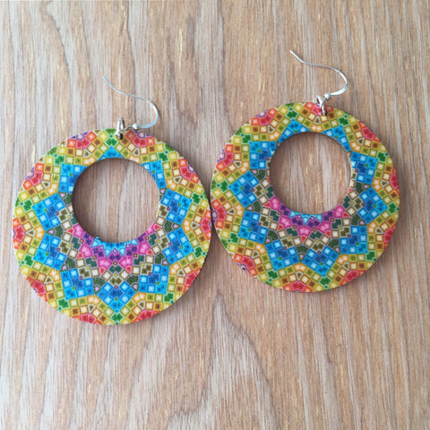 Starburst Wooden Earrings