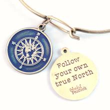 Follow Your Own True North Bangle