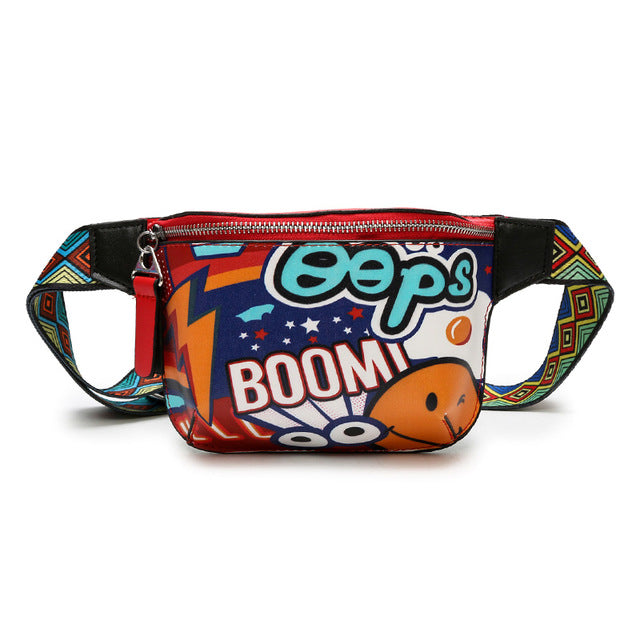 Red Graffiti Fanny Pack