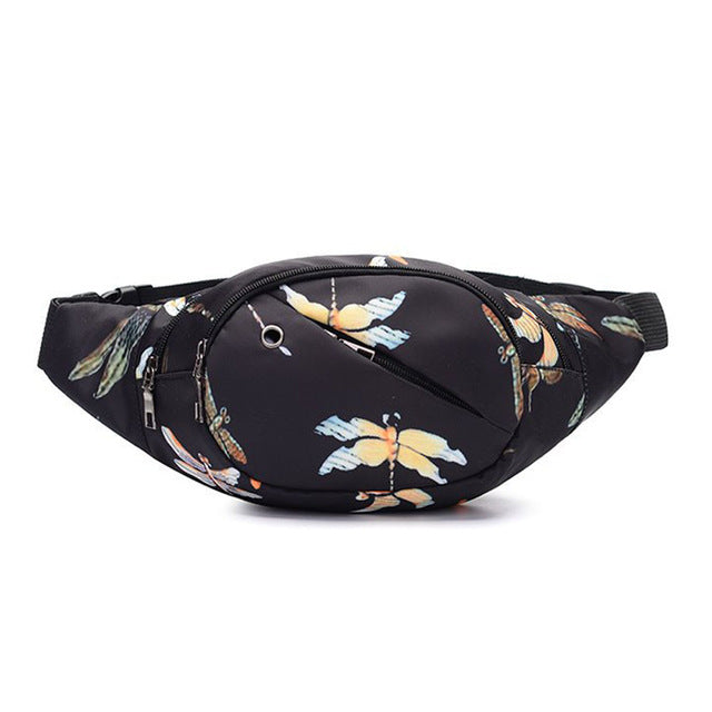 Dragon Fly Print Fanny Pack