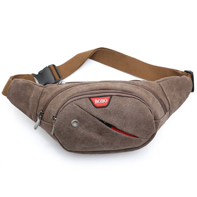 Casual Coffee Colored Fanny Pack
