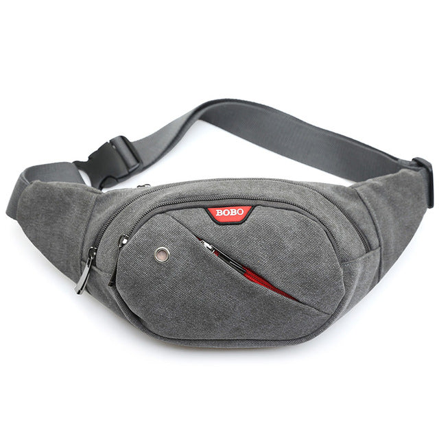 Gray Casual Fanny Pack