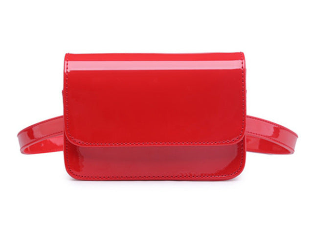 Red Glossy Faux Patent Leather