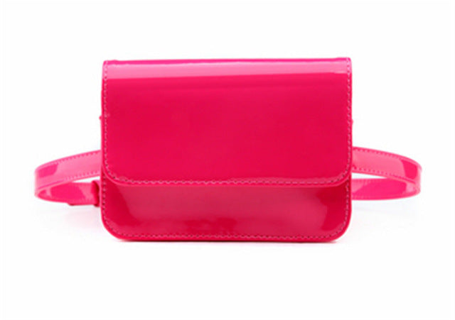 Pink Glossy Faux Patent Leather
