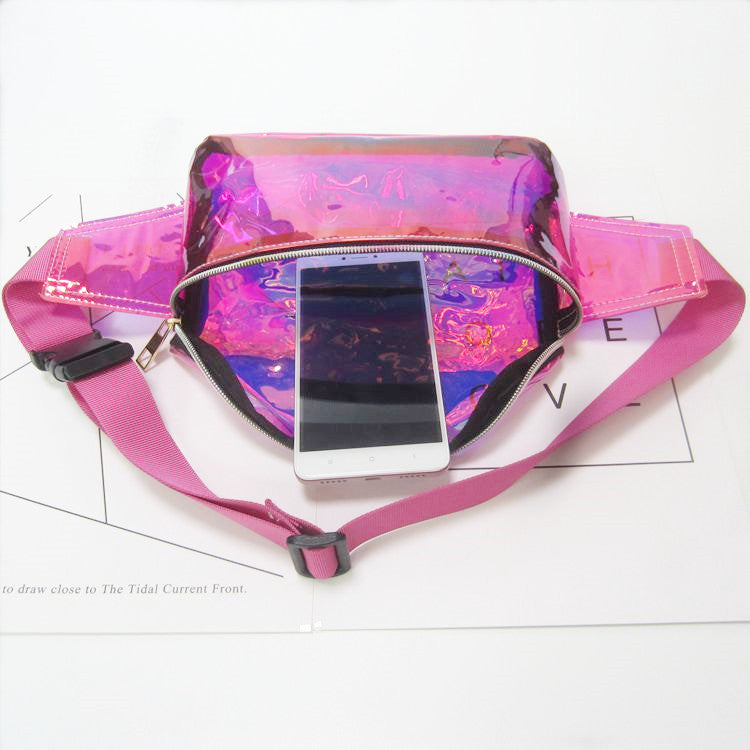 Neon Pink Laser Fanny Pack