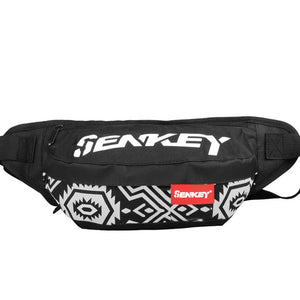 SENKJEY Reflective Chest Bag: Striped Black