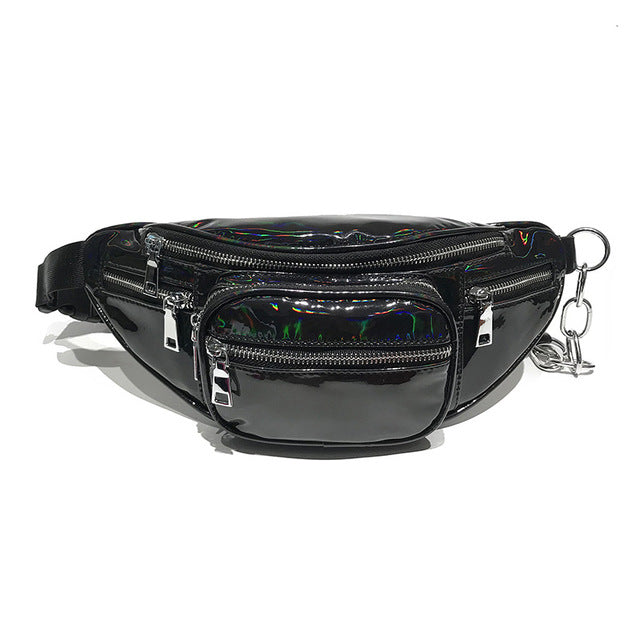 Black Holographic Fanny Pack