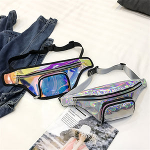 Silver Holographic Waist Bag